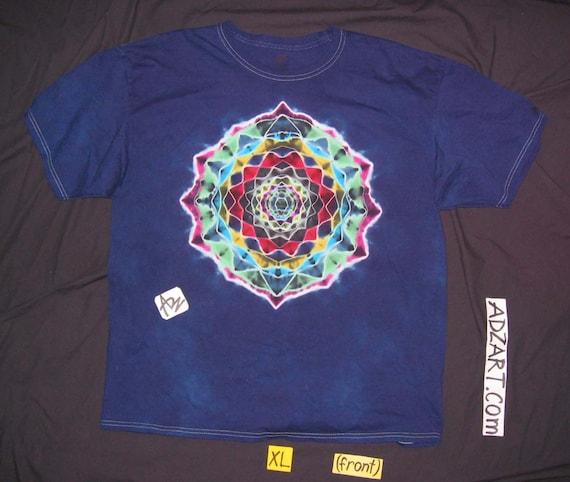 XL, Royal Mandala, S/S, Hand-Dyed Original Tie-Dye, Free Shipping
