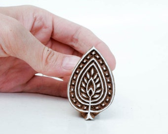 Wood Stamp Leaf 120