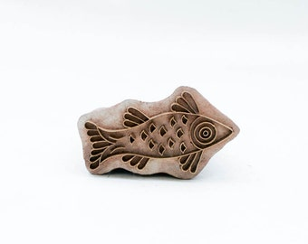 Sale Indian Wood Stamps Fish 178
