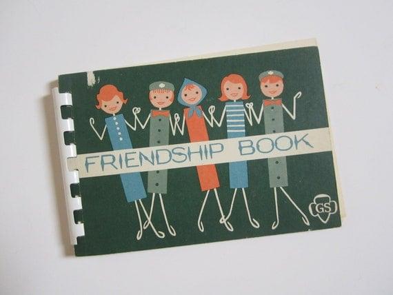 Vintage Scout Friendship Book