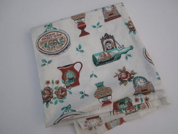 Vintage Fabric Home Sweet Home