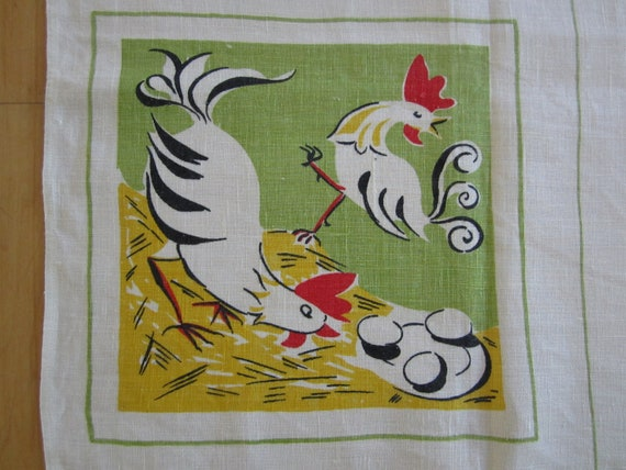 Vintage SOUVENIR Tablecloth Food