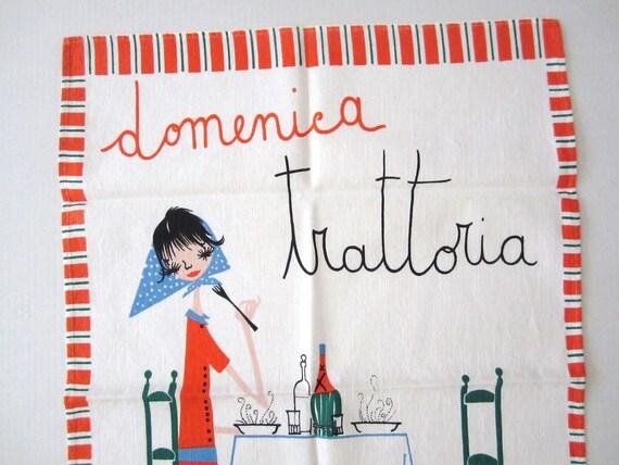 Vintage Towel MILVIA Trattoria Sunday