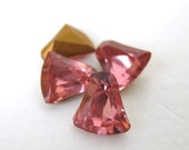 Vintage Swarovski Crystal Rhinestone Bells Rose Pink Glass Jewels 8mm swa0314 (4)