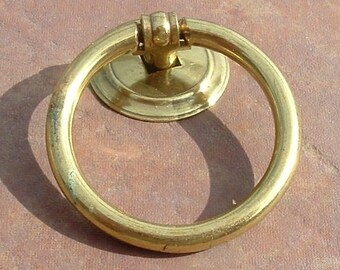 Set of 4 Brass Drawer Rings