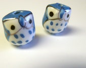 Periwinkle Baby Blue Owls Beads