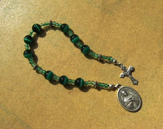 Saint Thomas Aquinas Chaplet Green