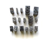 Numbers and Symbols - Vintage Metal Letterpress Blocks