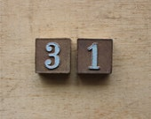 The 31st - Antique Embossed Numbers - Antique Embossed Number Blocks by the Embossing Company