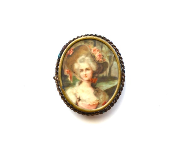 A Piece of Marie - Antique Brooch with Brass Backing