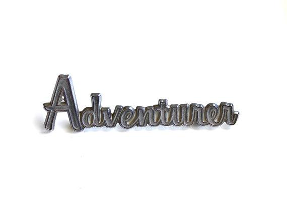 Adventurer - Vintage American Camper Sign