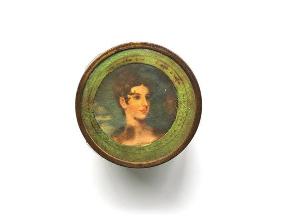 Full of Beauty - Antique Powder Jar - Antique Dresser Jar - Victorian