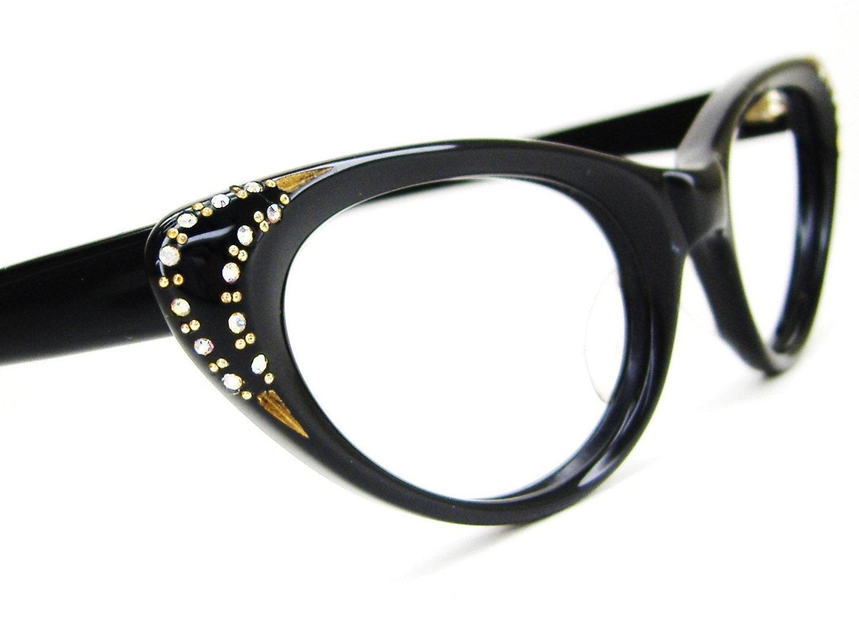 vintage womens 1950s cat eye glasses by vintage50seyewear