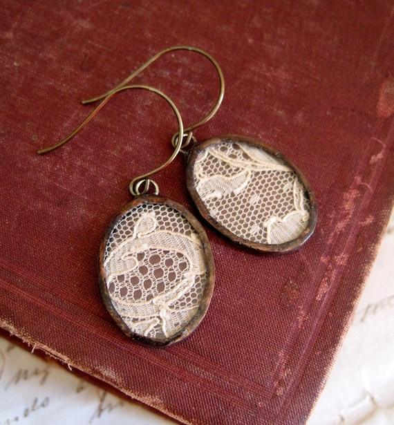 Treasured  Vintage Lace Earrings