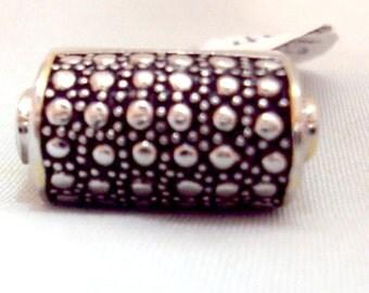 Sterling Silver Rolled Top Vintage Ornate Ring