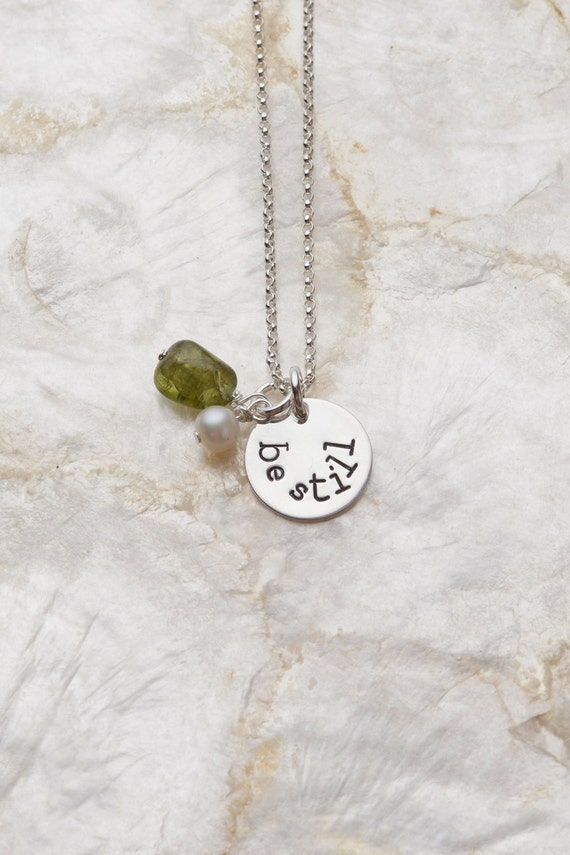 be still necklace calm the storm necklace by