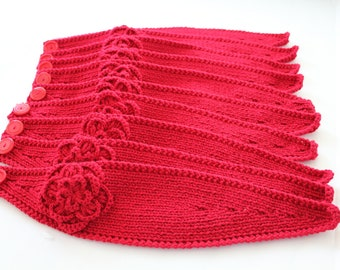 Headband Knitting Pattern with Crochet Or Knitted Flower