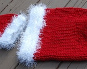 Knit Santa Cocoon and Hat - Pattern