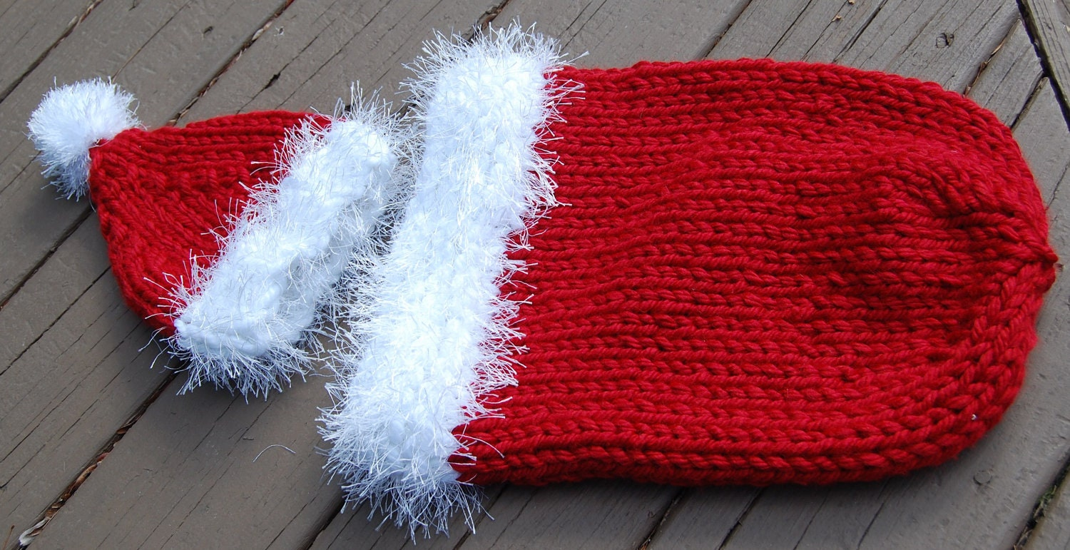 Knit Santa Cocoon And Hat Pattern