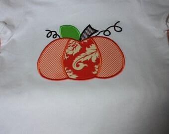 Applique Pumpkin  Tshirt