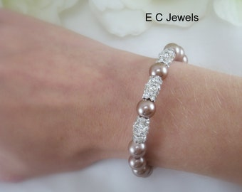 Stacked Elegance Bracelet for your Bridesmaids - Pick your color