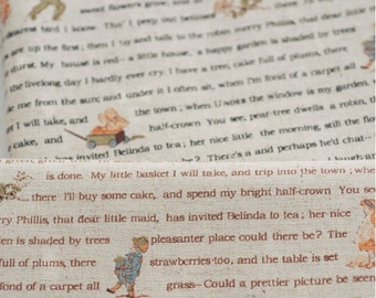 Country Garden Life Childhood Boys and Girls Poem Collection  - Linen Cotton Blended Fabric(Fat Quarter)
