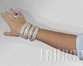 Gold Fabric Bracelet