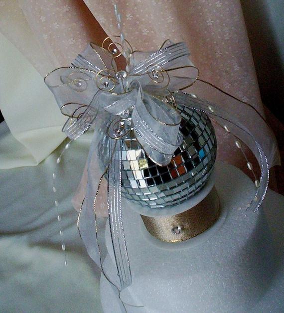 Disco Ball Decoration: Birthday Mirror Ball Cake Topper Unique Bridal By AmoreBride