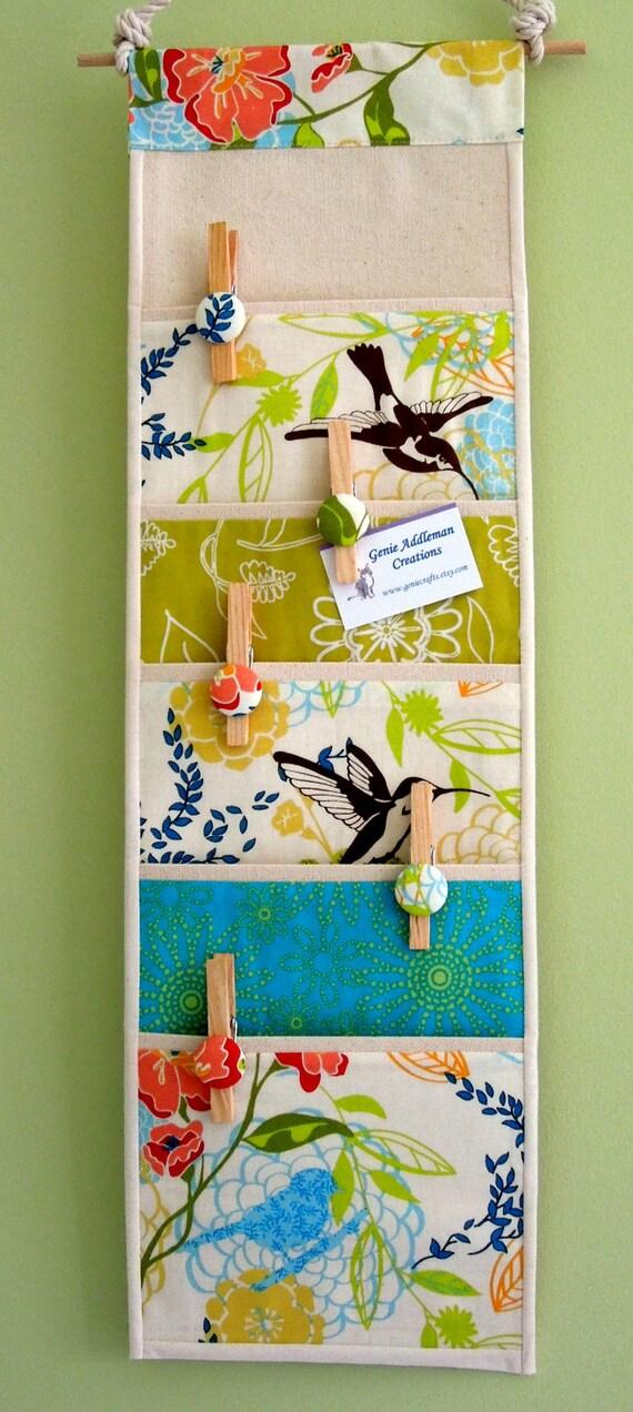 Wall or Door Organizer in a Five Pocket Design