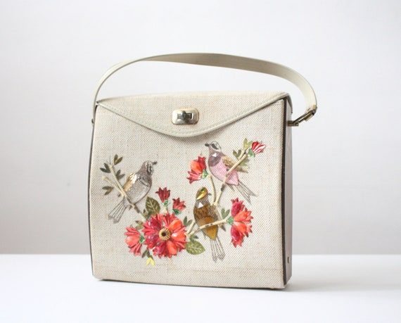 bird purse - vintage 1950's bird bag