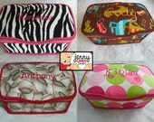 Large Diaper Nursery Wipe TUB-250 Fabrics-150 Fonts-FREE PERSONALIZATION-wipe case