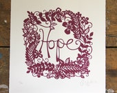 Limited edition 'Hope' screenprint