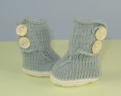 knitting pattern only- Baby 2 Button Booties Bootees Boots-immediate  pdf digital download knitting pattern