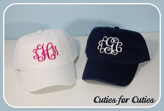 Ladies-Monogrammed Cap-Personalized Hat-