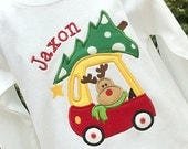 Boys Reindeer Shirt, Cozy Coupe, christmas Truck Shirt, Boys Holiday Shirts, Christmas tree shirt, Reindeer Holiday Shirts, Boys Christmas