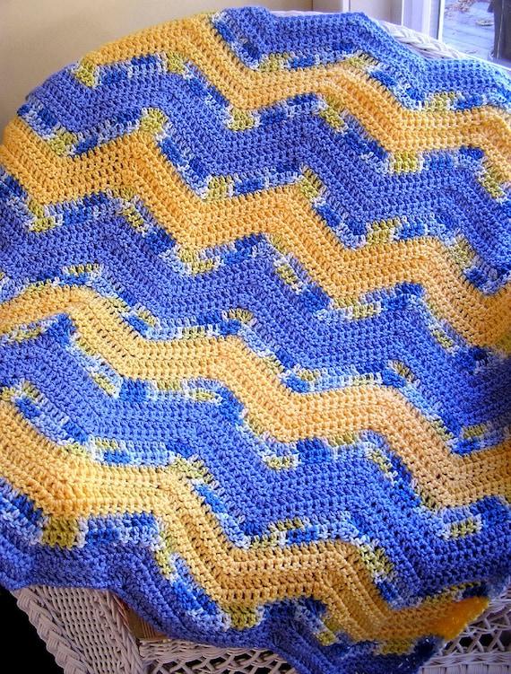 Zigzag Knitting Pattern Baby Blanket : new chevron zig zag baby blanket afghan wrap crochet knit lap