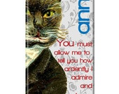 PREMIUM Personalized iPhone 5 or 4/4s Case  - Mr. Darcy Cat, iPhone 5 case,  iPhone 5 cover, monogrammed iPhone 5 cover