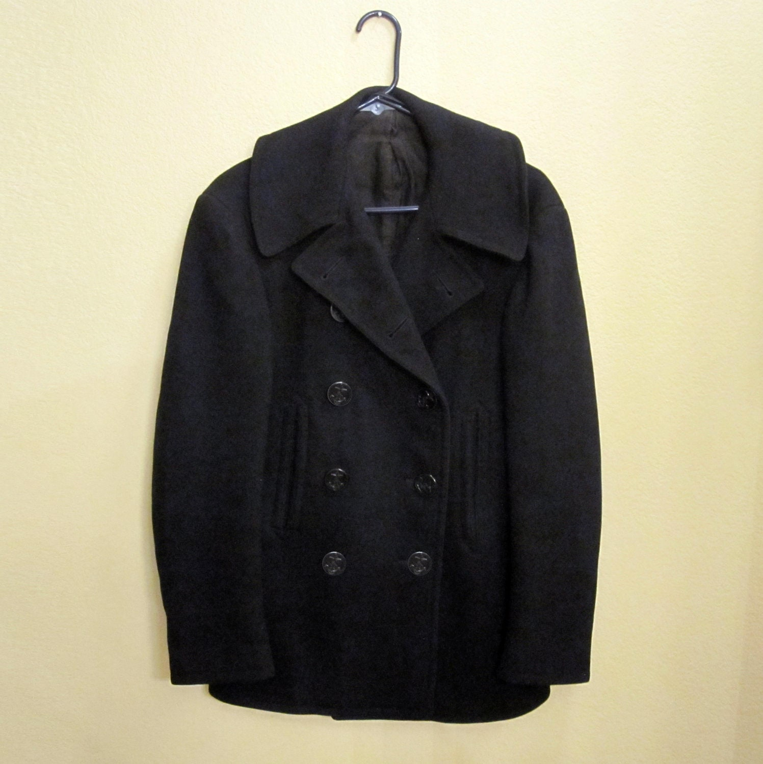 Authentic Vintage WWII U.S. Navy Pea Coat