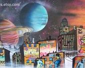 Cloud 99  -  Giclee Print on Canvas