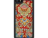 iPhone 4 iPhone 5 Samsung S3 Covers - 19th Century Floral Fabric - Free Metal Insert.