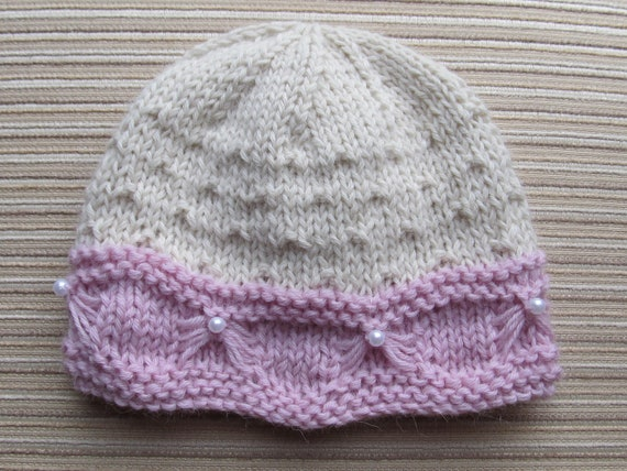 Knitting Pattern For Butterfly : Knitting Pattern 71 Baby Hat with a Butterfly Stitch 6