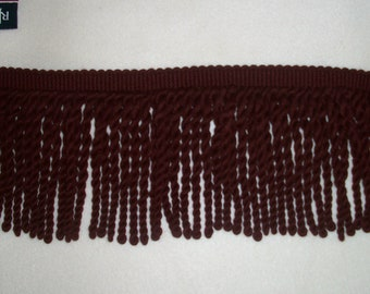 5 yds Upholstery Burgundy Fringe 6 inches wide