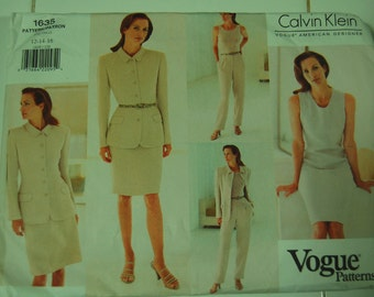 Vogue 1635 Ladies Sewing Pattern size 12 14 16 Calvin Klein