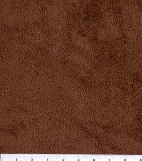 "Brown Ultra Cuddle Fleece Fabric - 20"""