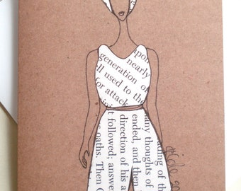 African American Greeting Card 'Trouser Suit'