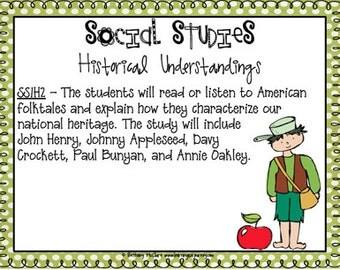 Science & Social Studies Standards for 1st Grade: GEORGIA (polka dots)