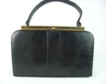 Leather Purse, Bellestone, Leather Handbag, Black, Kelly Purse