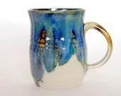 Large Ceramic Mug Blue