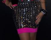 SALE High Waist Pencil Sequin skirt
