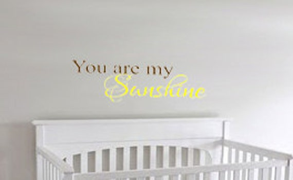 Items similar to You Are My Sunshine Wall Decal on Etsy